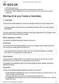 Oil Storage Regulations