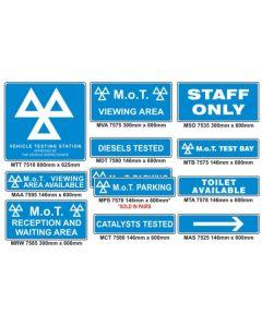 MOT sign kit